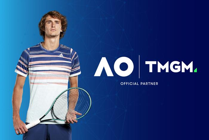 超级网坛巨星Alexander Zverev 来啦! TMGM特约赞助德国新星Alexander Zverev参加2021年澳大利亚网球公开赛