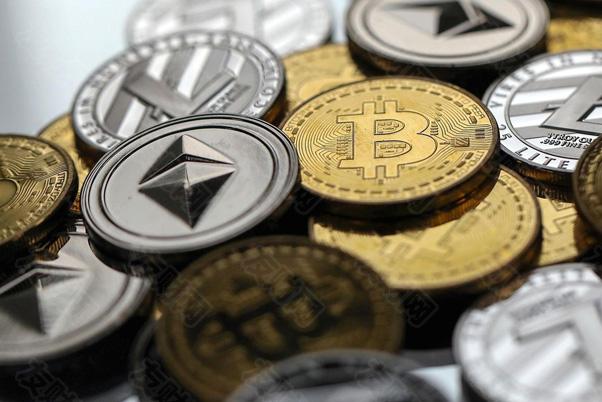 比特币,莱特币litecoin和以太币代币的集合d.jpg